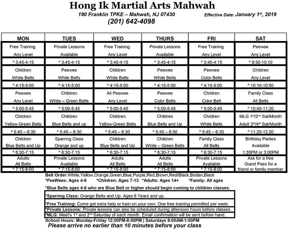 mahwah taekwondo