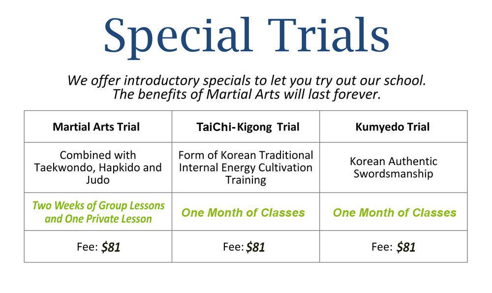 Trial Taekwondo