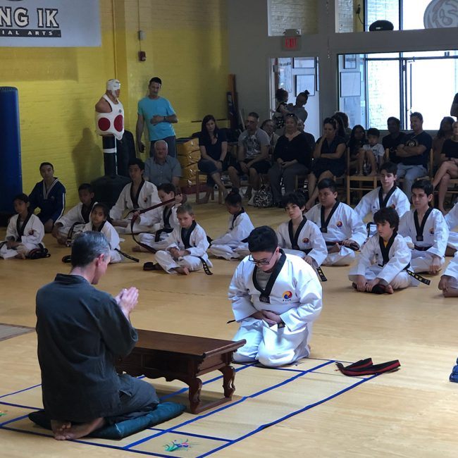 Taekwondo belt ceremony