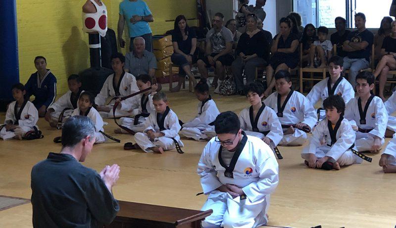 Taekwondo belt ceremony